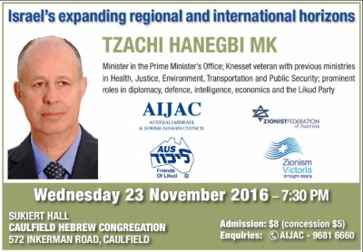 Discussion with Tzachi Hanegbi MK