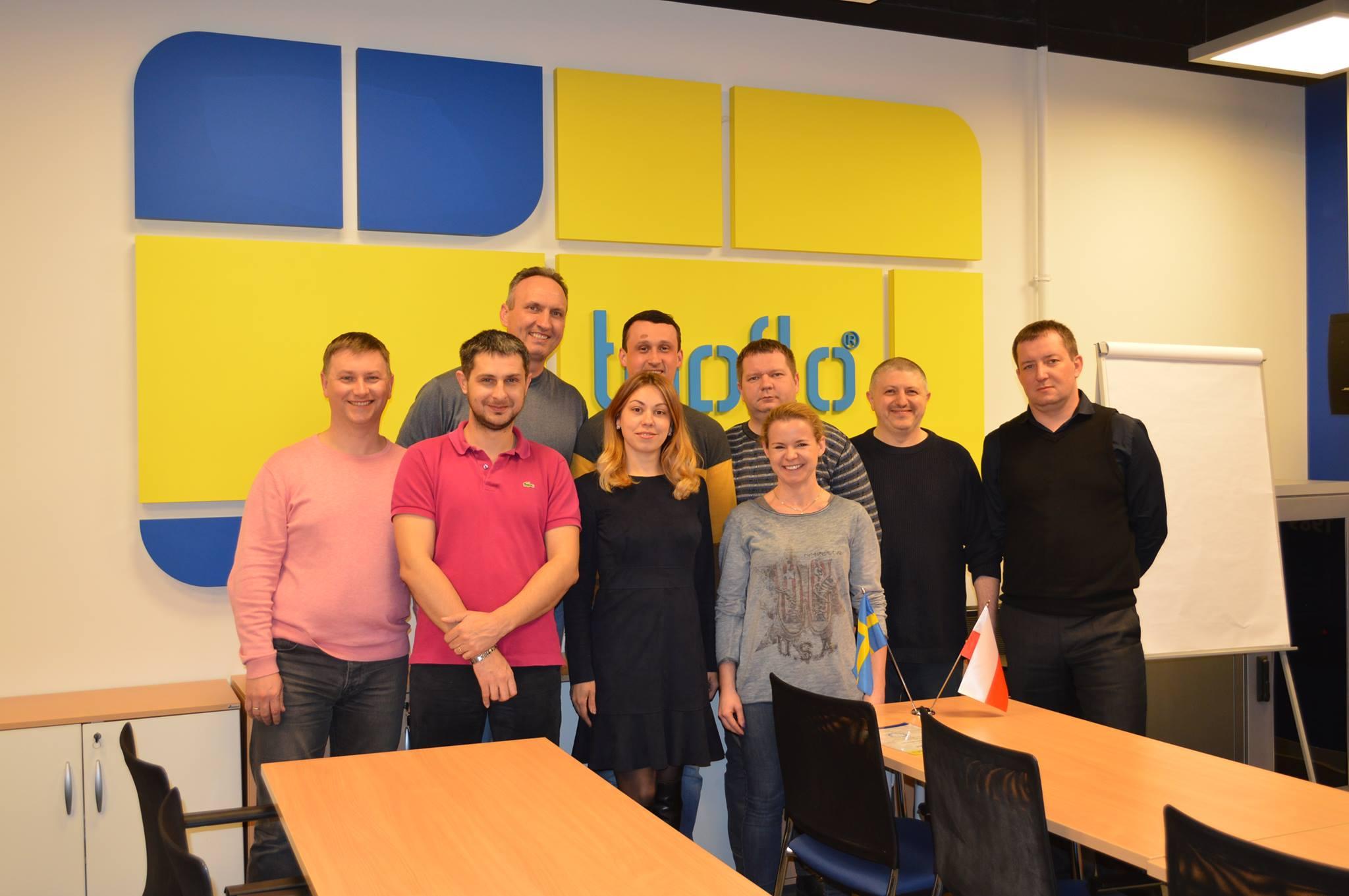 Команда Tapflo   Ukraine на тренинге от Академии Tapflo в Польше