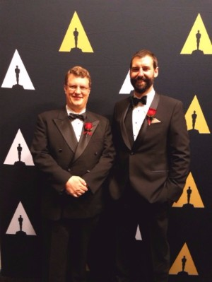 Geoff Wedig and Nicholas Apostoloff at the Oscars