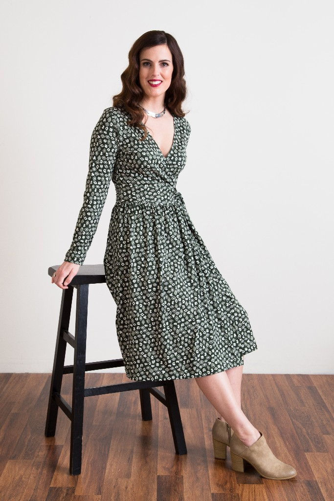 Georgia Kirkpatrick Silvania Fauna de la Costa Wrap Dress