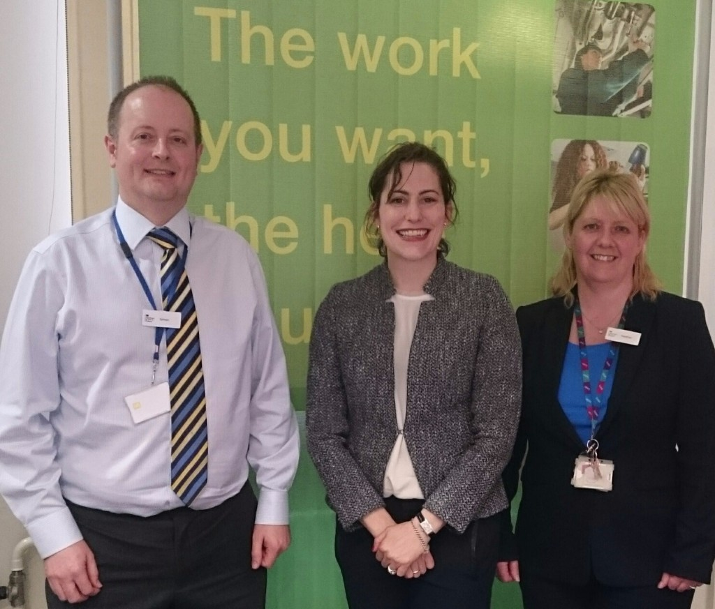 Victoria Atkins MP at Louth Job Centre