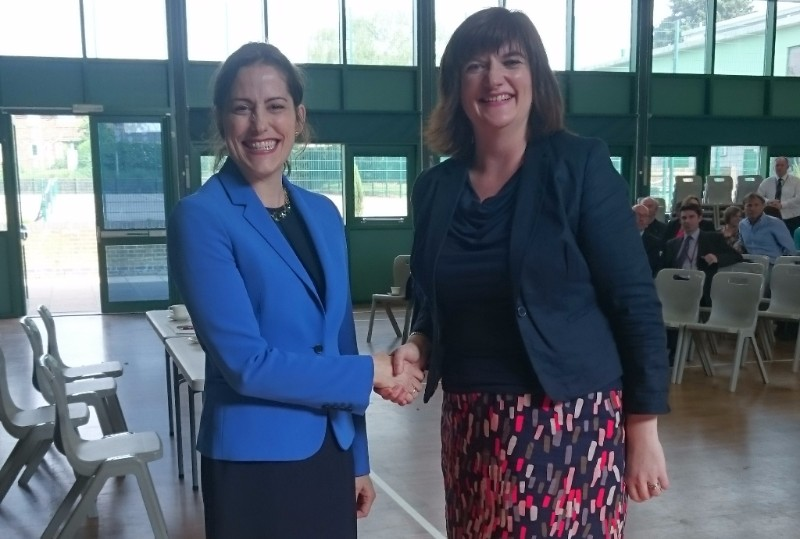 Victoria Atkins MP with the Rt Hon Nicky Morgan MP, Secretary of State for Education