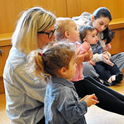 Children and caregivers at Storytime