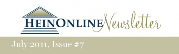 HeinOnline Newsletter