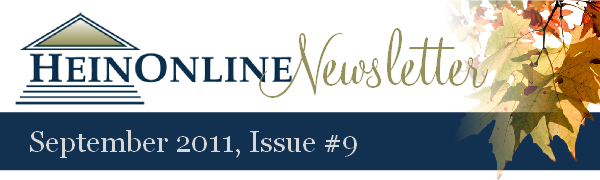 HEINONLINE NEWSLETTER!