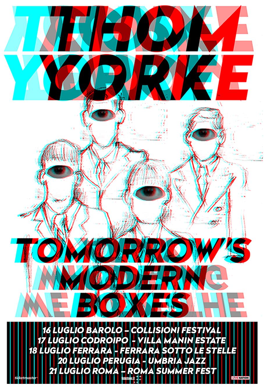 Thom Yorke 5 date a luglio 2019 progetto solista