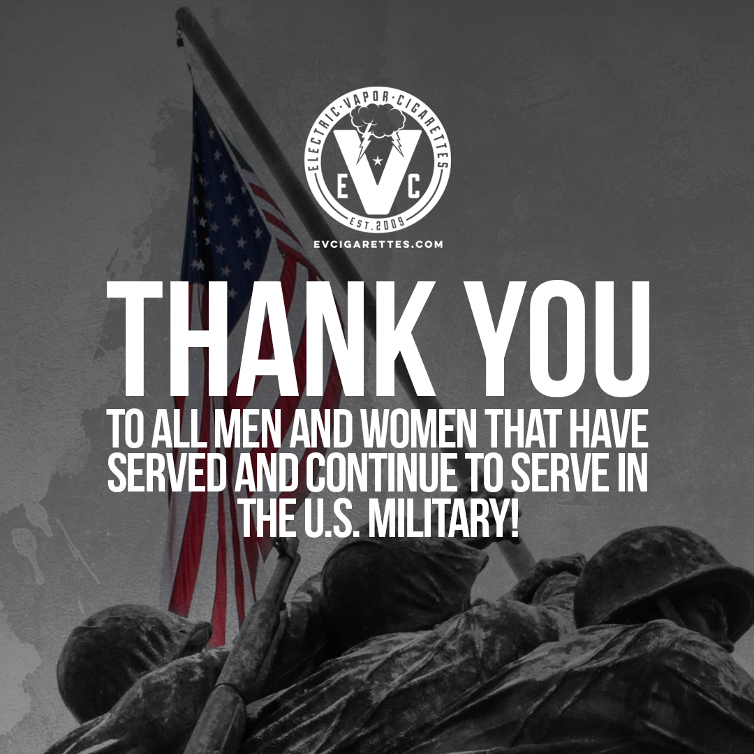 EVC says a big THANK YOU to the men and women proudly serving in our military!