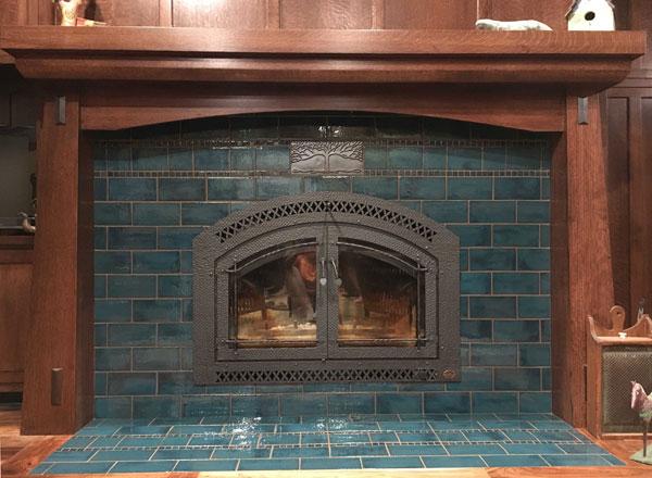Aurora Borealis fireplace