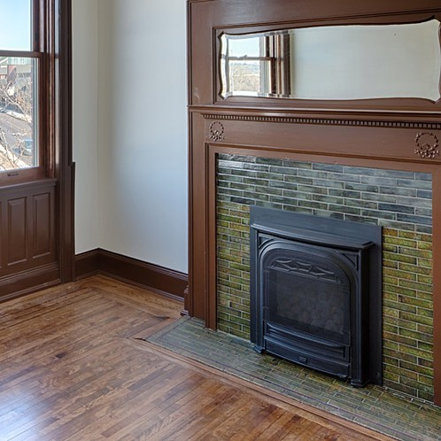 Victorian tile fireplace remake