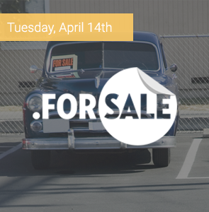 Tuesday, April 14th: $0.99 .FORSALE domains