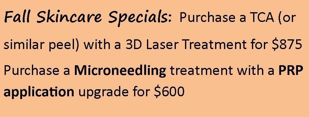 Fall Skin Care offer!