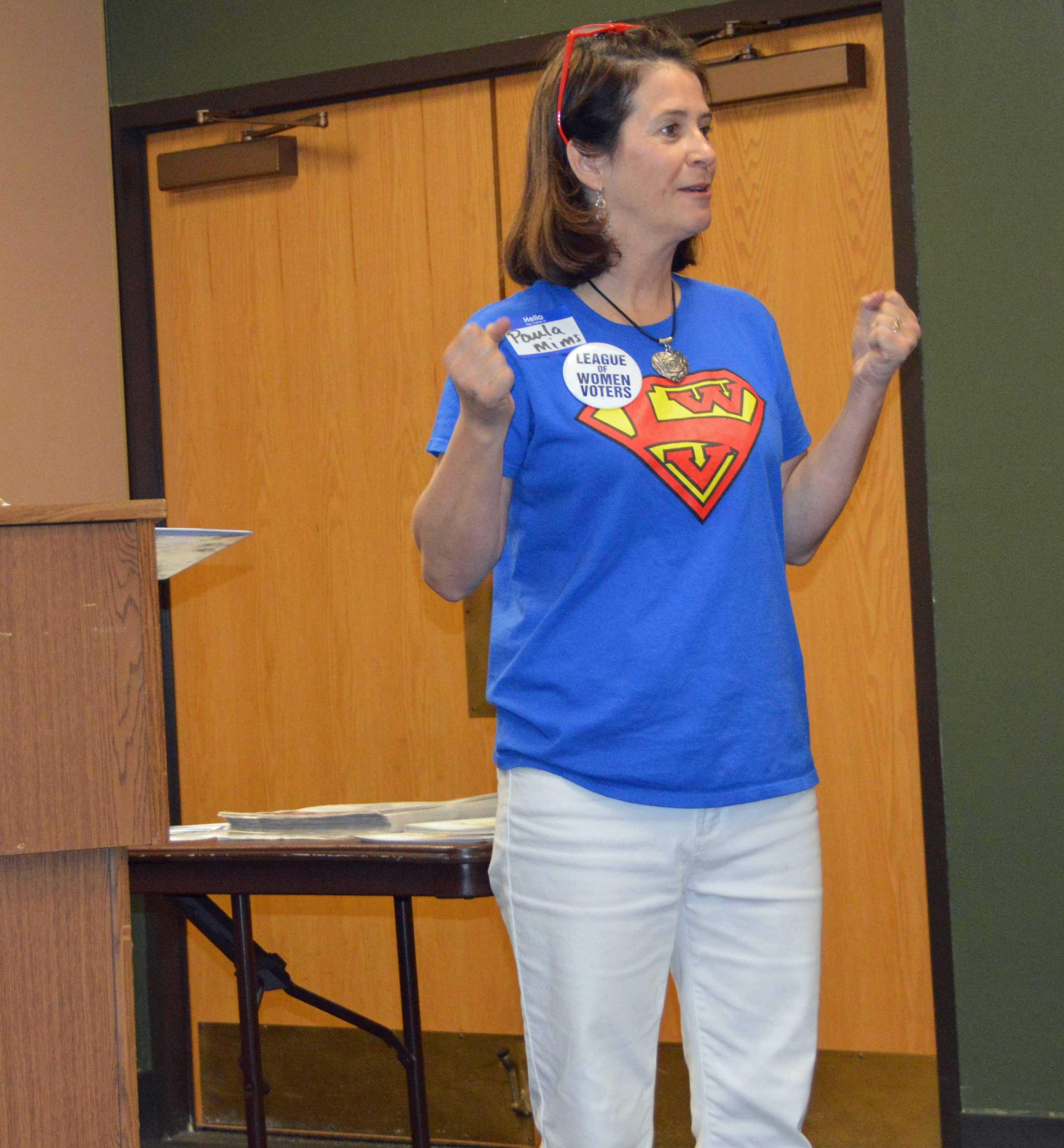 Paula presenting