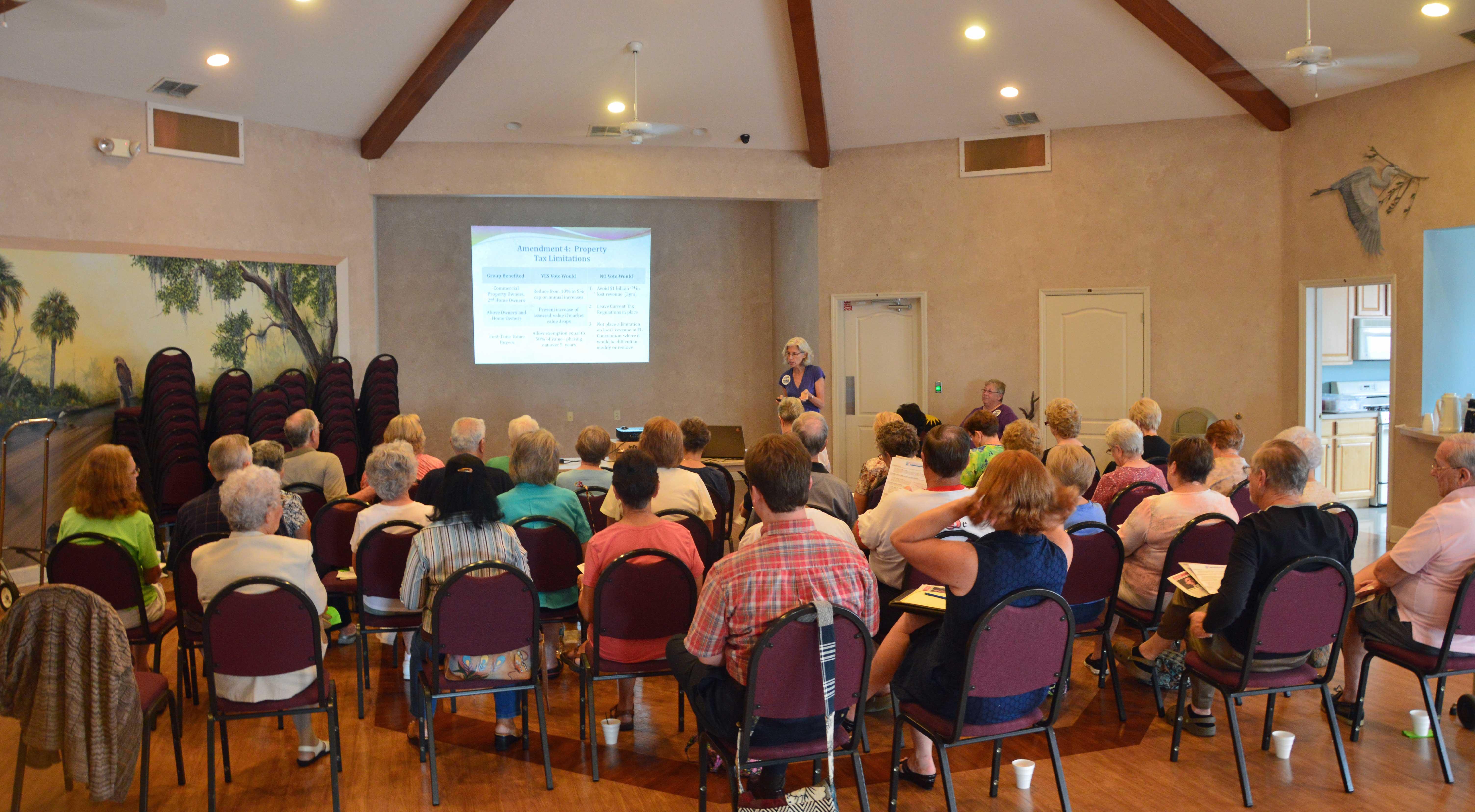 Janet Stevens presenting