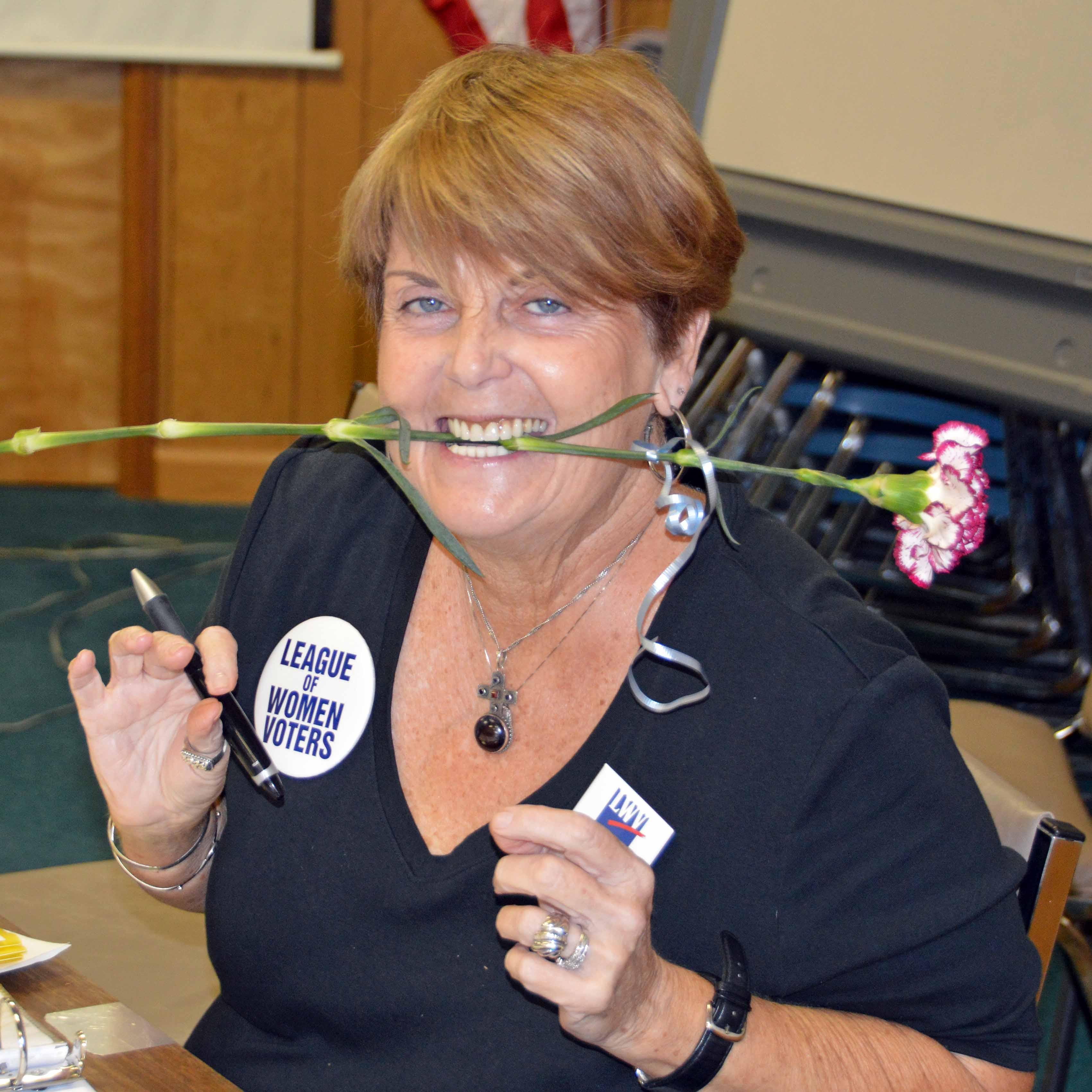 Lynn with flower stem