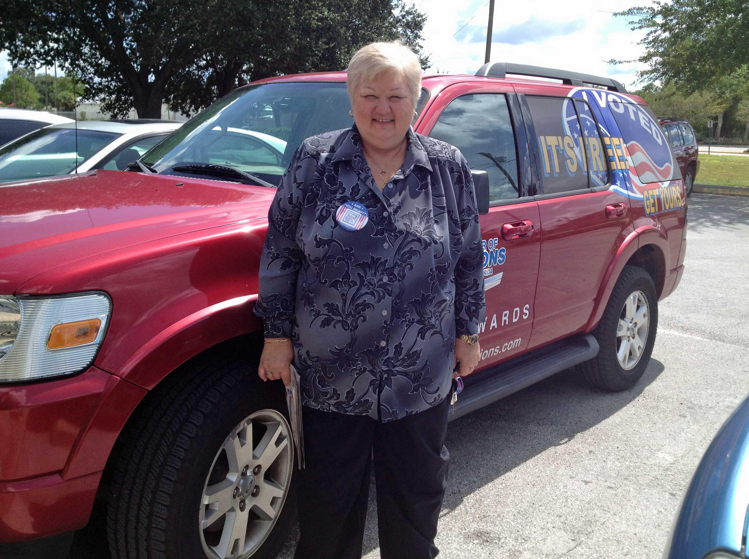 Judy Walker on location
