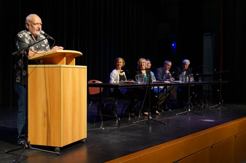 Paul Kennedy moderates the closing panel discussion