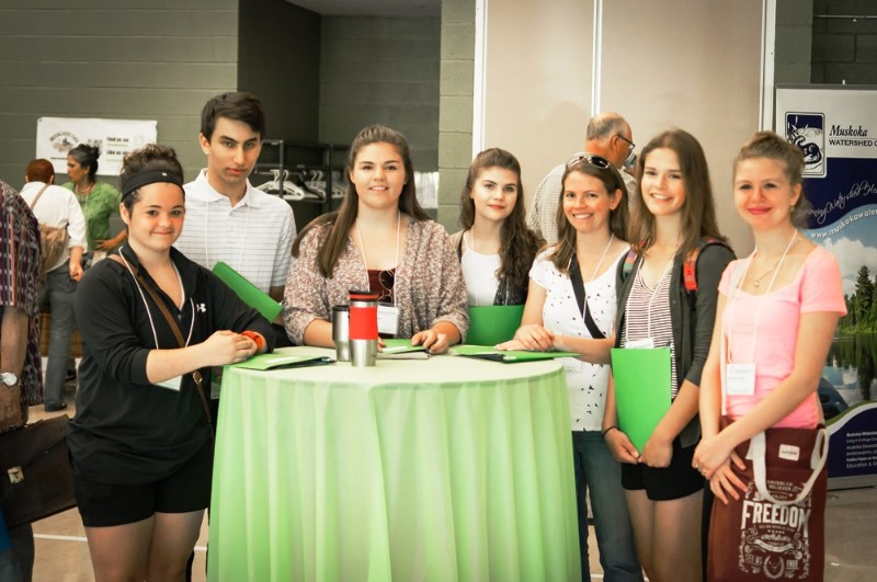 A number of local high school students participated in the summit