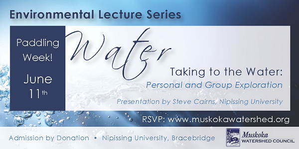 Register now for our Taking To The Water Lecture