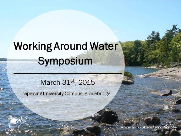 2015 Working Around Water Symposium