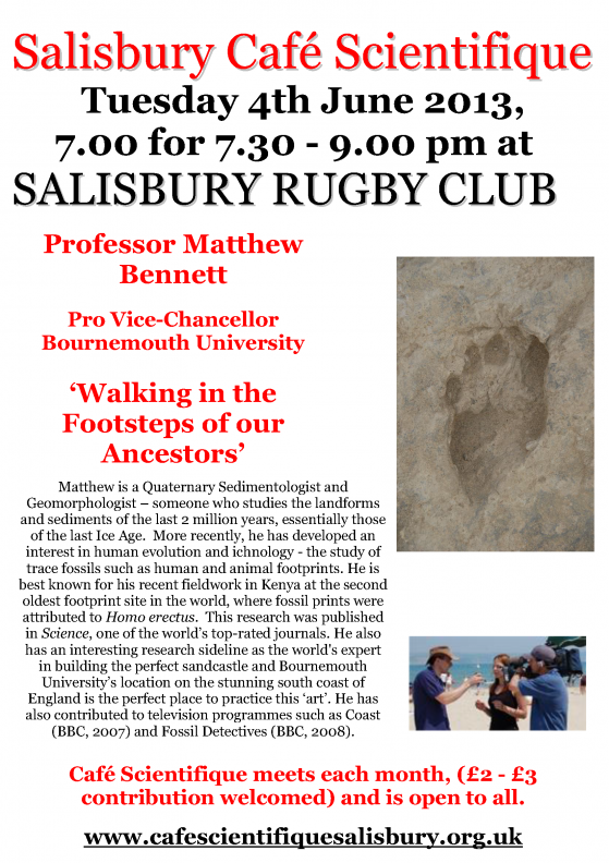 Poster for Prof Matthew Bennett