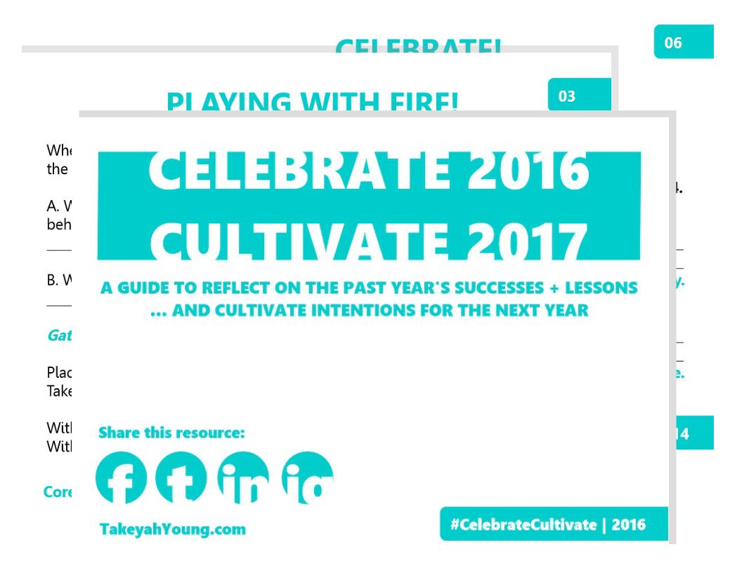 Celebrate 2016. Cultivate 2017.