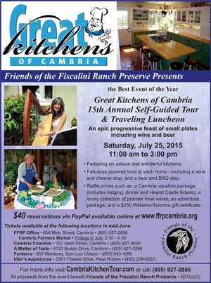 Great Kitchens of Cambria Tour