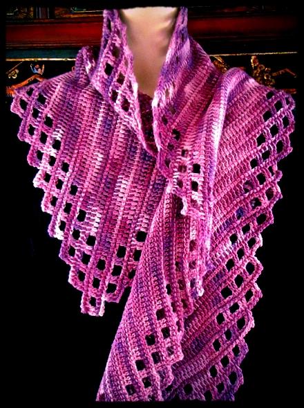 Warm Aeroette Tunisian Crochet Scarf