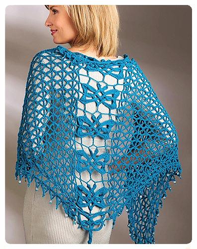 Jennifer E. Ryan's Feileacan Shawl in Lotus yarn for Crochet! Magazine Summer 2015
