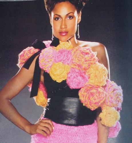 Giant Roses Wrap in Crochet! Magazine Jan. 2007