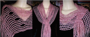 Four-steeked Pink Sequined Mesmer