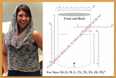 Smokestack Vest in progress (Ravelry project page)
