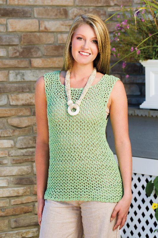 "Doris Chan's ""Harmony Bamboo Tank"" in Crochet! Magazine, Spring 2015"