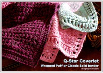 Q-Star Coverlet, next new crochet pattern at shop.DesigningVashti.com