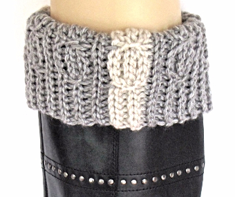 Lucky Twists Boot Cuff: pattern being tested now!