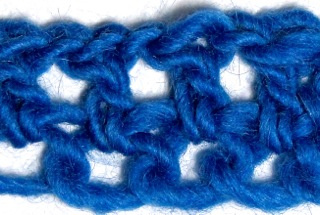 Foundation chains with alternative yarn overs; 2 BL at a time