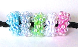 Candied Pony Beads: one bead color, 5 different Lotus coolors