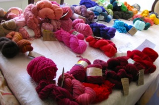 Choosing only 14 yarn colors...too many reds and pinks.