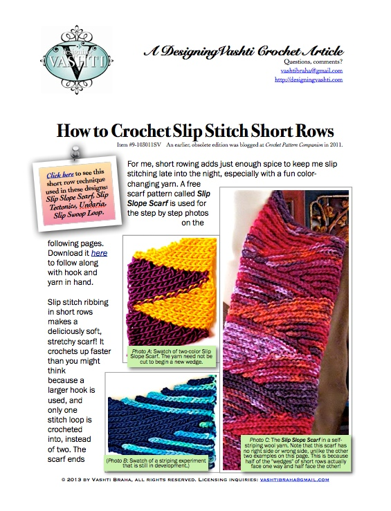 How to Crochet Slip Stitch Short Rows: The Photo Tutorial