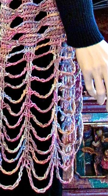 Rivuline Tunisian Lace Shawl