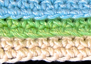 Three ways to crochet Row One into 2 foundation chain loops.