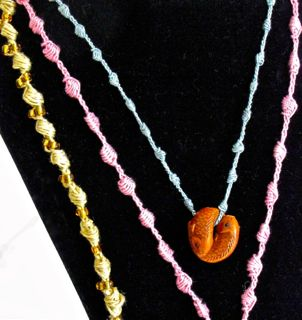 Irish Pearl Knots Necklace & Friendship Bracelets