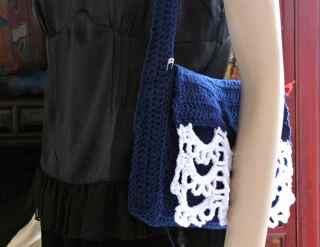 PrueCrochet Messenger Bag