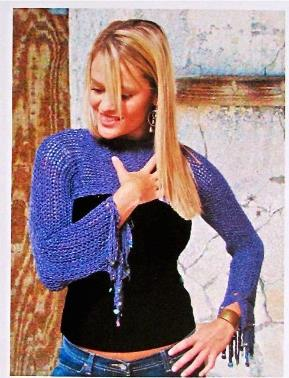 Pullover Shrug in Slip Stitch Crochet, c.2005
