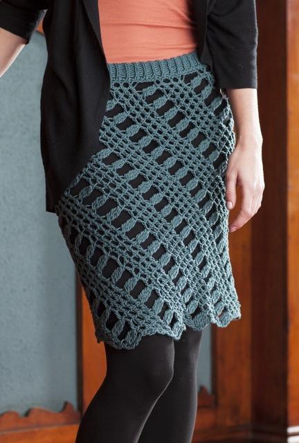 Doris Chan's Shantay Skirt in Tunisian Crochet Lace