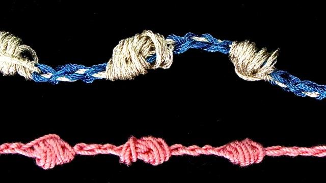 sloppy pearl knots