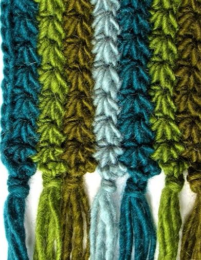 Starpath Scarf: medium-weight wool version, no chain fringe.