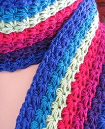 """""""Starpath"""" new crochet design; link goes to its new Ravelry project page."""