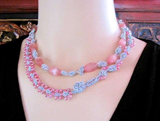 Sweet Almonds Crochet Jewelry Set