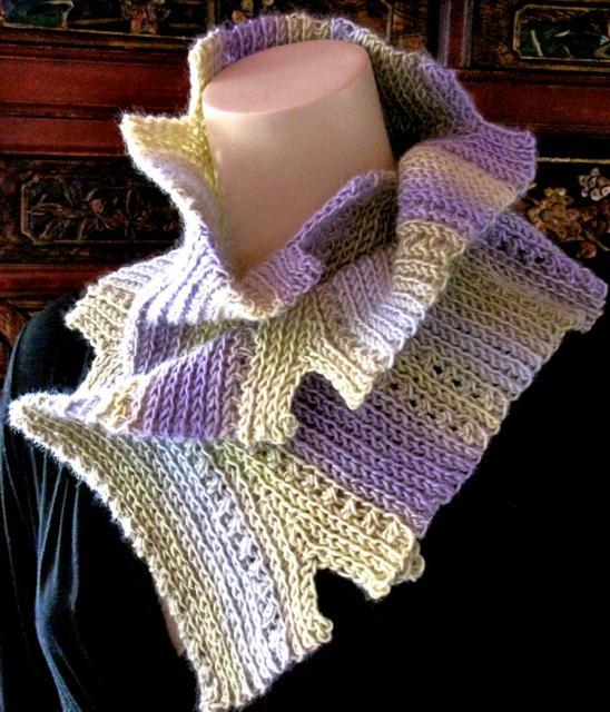 Notch: Slip Stitch Crochet Scarf