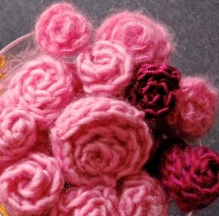 Tumbling miniature roses
